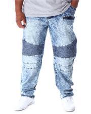 Jeans - Moto Zipper Denim Jeans (B&T)-2630861
