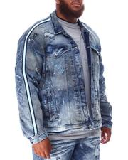 Jordan Craig - Distressed Side Stripe Denim Jacket (B&T)-2631218