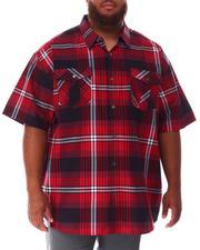 Short-Sleeve - Plaid Woven Shirt (B&T)-2631965