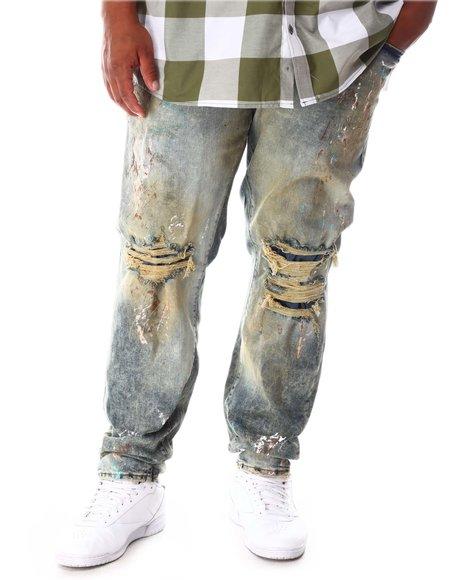 Jordan Craig - Washed Rip & Tear Distressed Denim Jeans (B&T)
