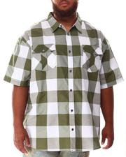 Button-downs - Yarn Dyed Plaid Woven Shirt (B&T)-2634572