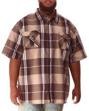 Short-Sleeve - Plaid Woven Shirt (B&T)-2634589