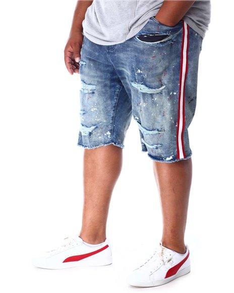 Jordan Craig - Side Stripe Distressed Denim Shorts (B&T)