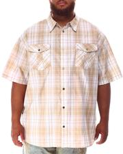 Button-downs - Yarn Dyed Plaid Woven Shirt (B&T)-2634503