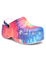 Footwear - Tie-dye Fashion Clogs-2636522