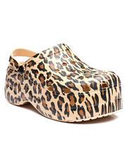 Footwear - Leopard Print Fashion Clogs-2637456