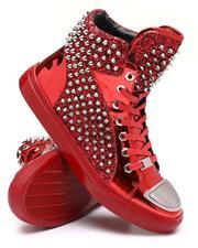 Footwear - High Top Metallic Sneaker W/ Spikes-2637539