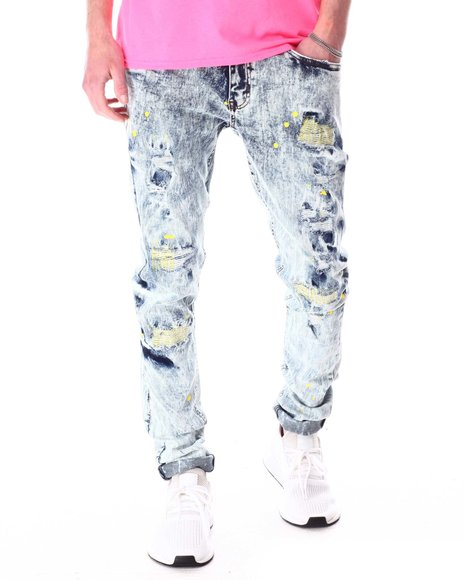 Buyers Picks - Rip and Repair Zig Zag Color Stitch Jean