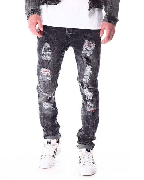 Buyers Picks - Washed Black Jean w Red Stitch Detail