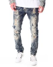 Jeans - Washed Denim Jean w Timber Stitch Detail-2636940