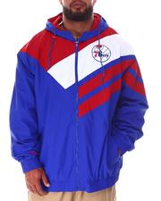 Mitchell & Ness - 76ers Asymmetrical Full Zip Jacket (B&T)-2638405