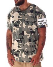 Ecko - Madison Ave V-Neck Sleeve Logo T-Shirt (B&T)-2637121
