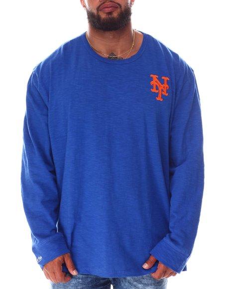 Mitchell & Ness - Mets Slub Long Sleeve T-Shirt (B&T)