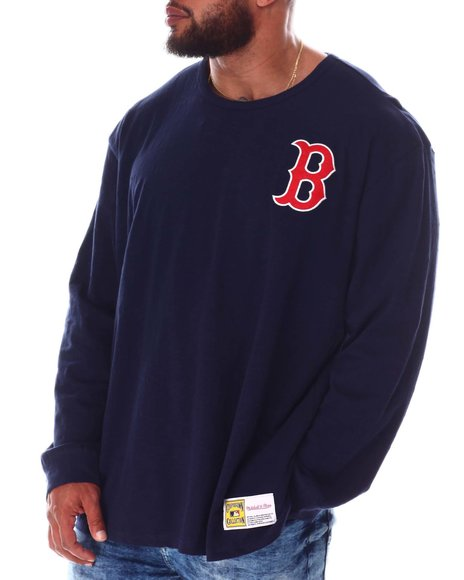 Mitchell & Ness - Red Sox Slub Long Sleeve T-Shirt (B&T)