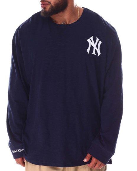 Mitchell & Ness - Yankees Slub Long Sleeve T-Shirt (B&T)