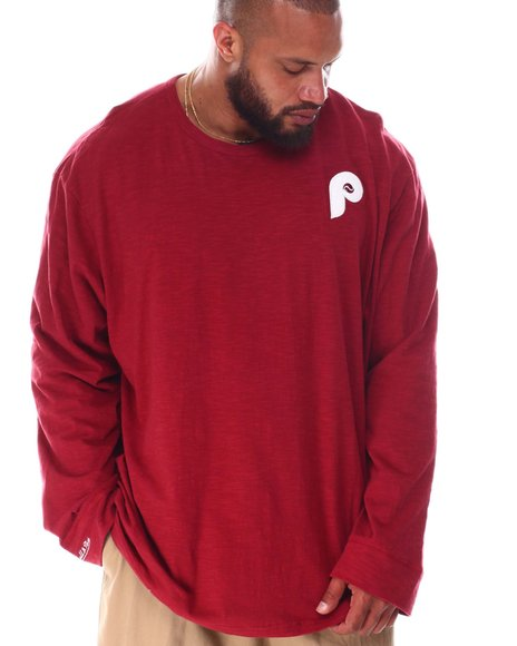 Mitchell & Ness - Phillies Slub Long Sleeve T-Shirt (B&T)