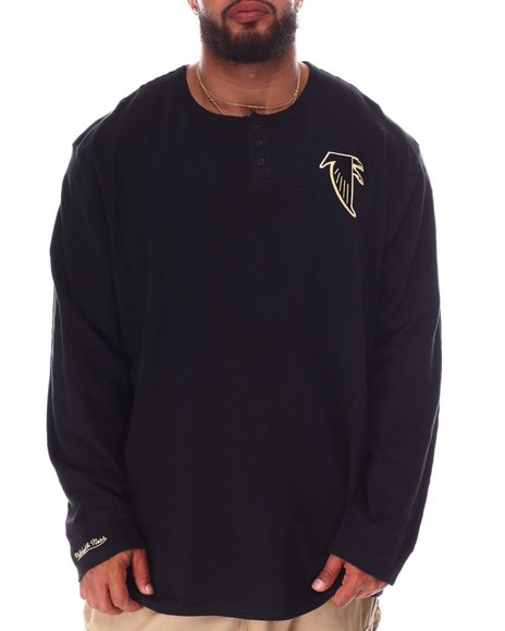 Mitchell & Ness - Falcons Slub Knit Long Sleeve T-Shirt (B&T)