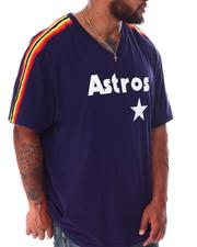 Mitchell & Ness - Astros Overtime Short Sleeve V-Neck (B&T)-2638510