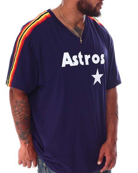 Mitchell & Ness - Astros Overtime Short Sleeve V-Neck (B&T)