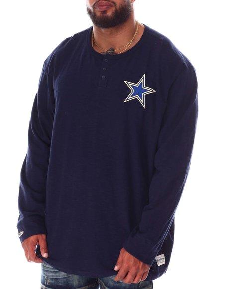 Mitchell & Ness - Cowboys Slub Knit Long Sleeve T-Shirt (B&T)