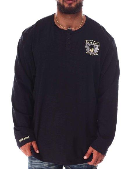 Mitchell & Ness - Raiders Slub Knit Long Sleeve T-Shirt (B&T)
