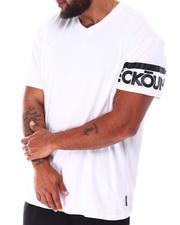 Ecko - Madison Ave V-Neck Sleeve Logo T-Shirt (B&T)-2637111