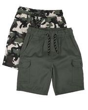 Arcade Styles - 2Pk Twill Cargo & Camo Shorts (8-18)-2636514