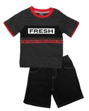 Sets - 2 Pc Fresh Print T-Shirt & Denim Shorts Set (Infant)-2636558