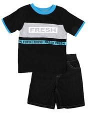 Sets - 2 Pc Fresh Print T-Shirt & Denim Shorts Set (Infant)-2636563
