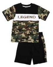 Sets - 2 Pc Camo Print Tee & Shorts Set (Infant)-2636606