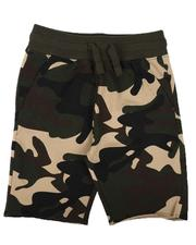 Boys - Camo Raw Edge Shorts (8-16)-2637836