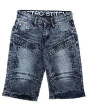 Arcade Styles - Cut & Sew Panel W/ Articulated Knee Denim Shorts (8-18)-2638518