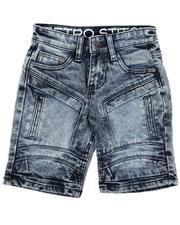 Bottoms - Cut & Sew Panel W/ Articulated Knee Denim Shorts (4-7)-2638525