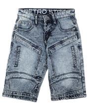 Arcade Styles - Cut & Sew Panel W/ Articulated Knee Denim Shorts (8-18)-2638530