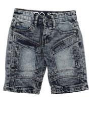 Bottoms - Cut & Sew Panel W/ Articulated Knee Denim Shorts (4-7)-2638551