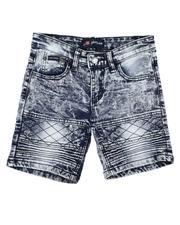 Phat Farm - Washed Stretch Moto Denim Shorts (4-7)-2638569