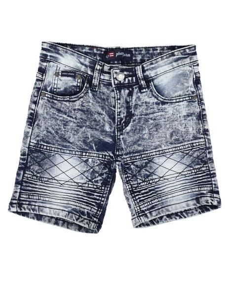 Phat Farm - Washed Stretch Moto Denim Shorts (4-7)