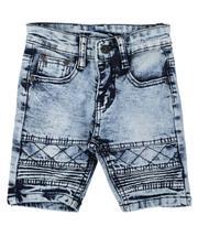 Phat Farm - Washed Stretch Moto Denim Shorts (2T-4T)-2638594