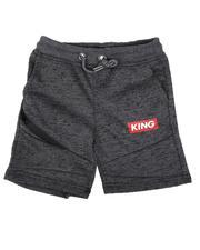 Boys - King Streak Print Fleece Shorts (4-7)-2638611
