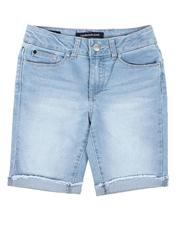 Girls - Cut Off Bermuda Shorts (7-14)-2638970