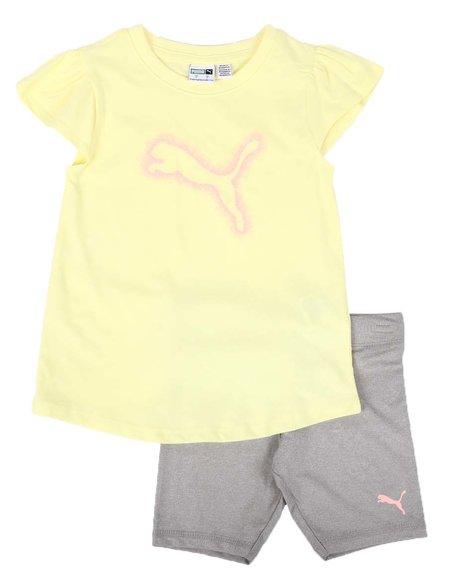 Puma - 2 Pc Tee & Biker Shorts Set (4-6X)