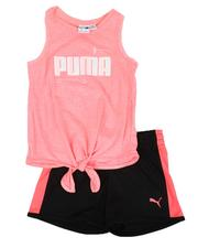 Girls - 2 Pc Tank & Tricot Shorts Set (4-6X)-2637028