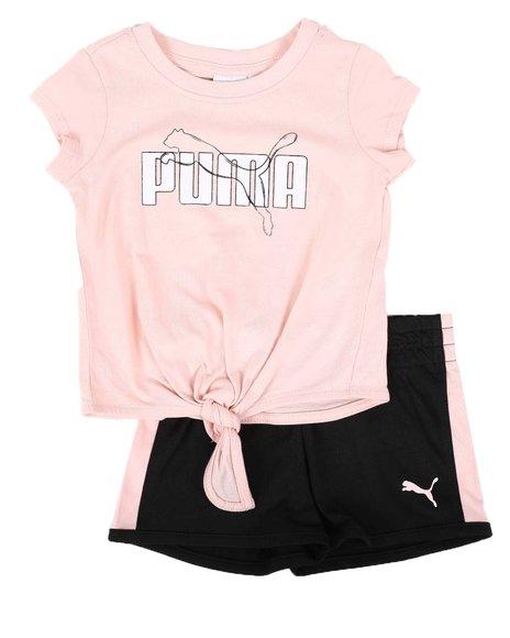 Puma - 2 Pc Tee & Tricot Shorts Set (Infant)