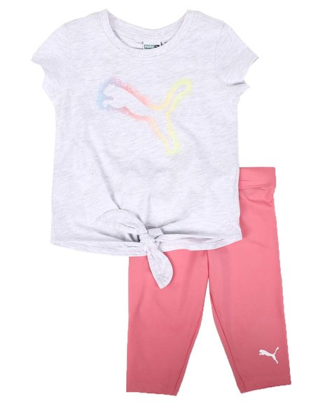 Puma - 2 Pc Tee & Capri Leggings Set (2T-4T)