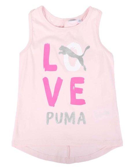 Puma - Alpha Pack Cross Back Fashion Tank Top (7-16)