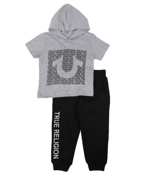 True Religion - 2 Pc Hooded T-Shirt & Jogger Pants Set (2T-4T)