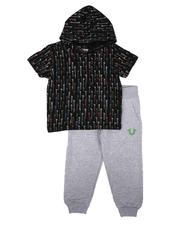 Sets - 2 Pc Drip All Over Print Hooded T-Shirt & Jogger Pants Set (2T-4T)-2637828