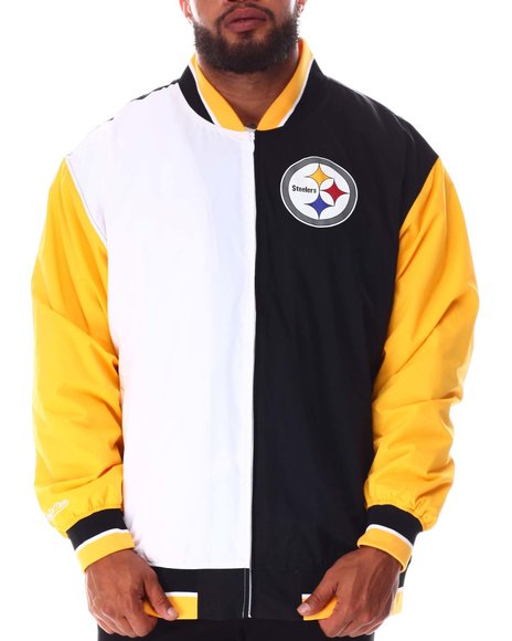 Mitchell & Ness - Steelers Nylon Warm Up Jacket (B&T)