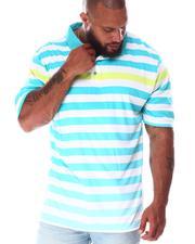 Big & Tall - Striped Polo Shirt (B&T)-2640464