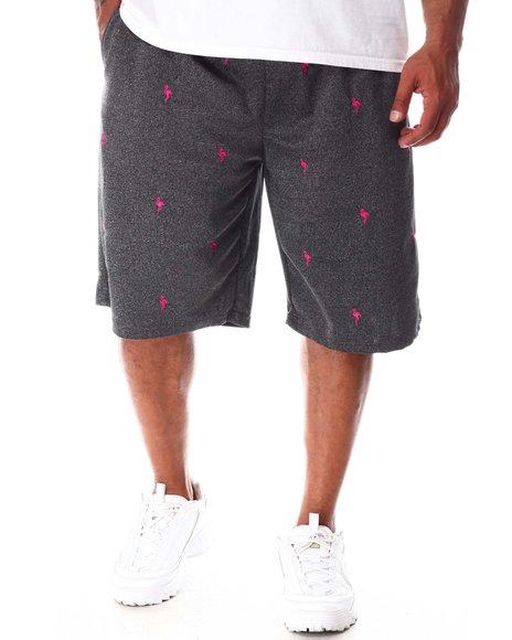 Buyers Picks - Flamingo Embroidered Knit Scuba Shorts (B&T)